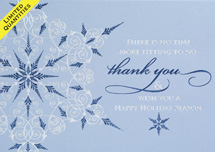 Glittering Thank You Holiday Cards