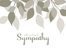 Muted Gray Leaves Sympathy Card